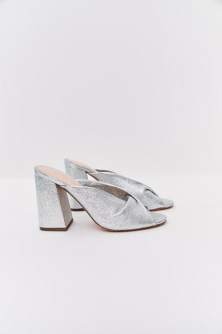 pre-loved Loeffler Randall Leather Heels - silver