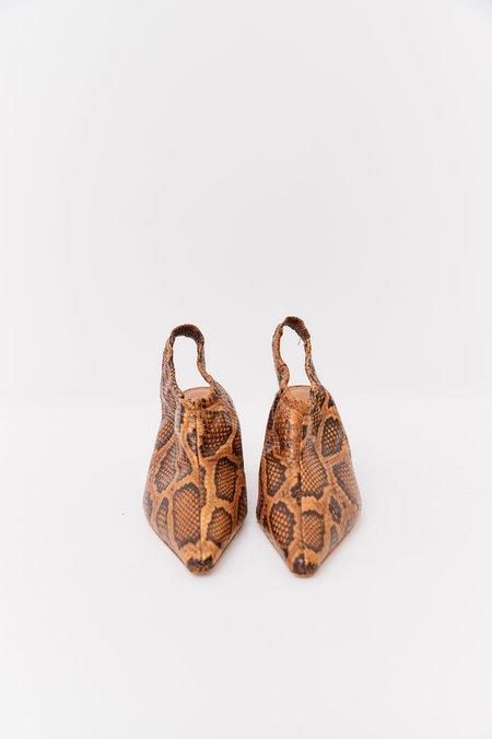 pre-loved Rejina Pyo Embossed Leather Heels - tan