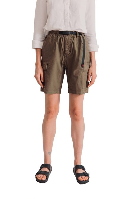 Unisex Gramicci Ripstop Cargo Shorts - Olive
