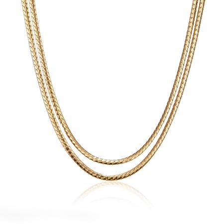 Priya Double Strand Necklace - Gold