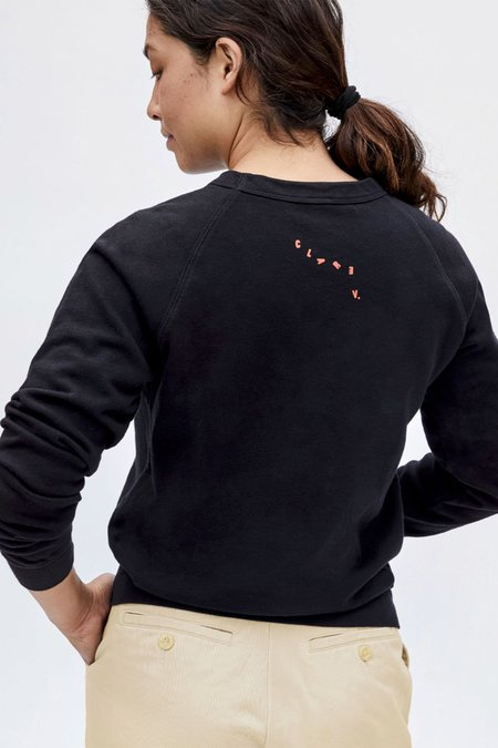 Clare V. Lips Sweatshirt - Black