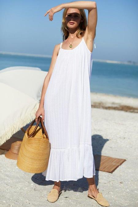 Emerson Fry India Sundress - Dot Stripe White
