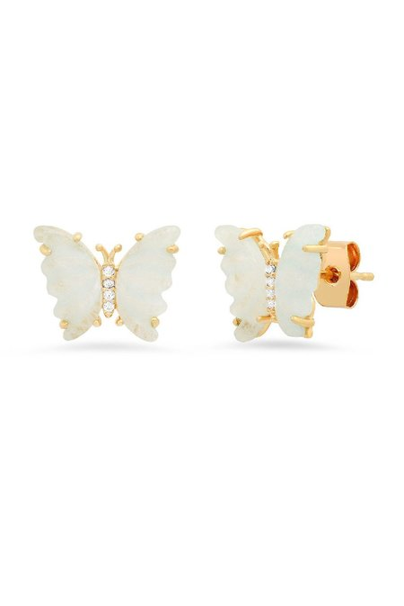 tai Butterfly Earrings - Light Mint
