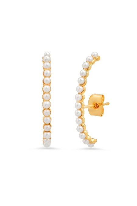 Tai Pearl Ear Climbers Earrings