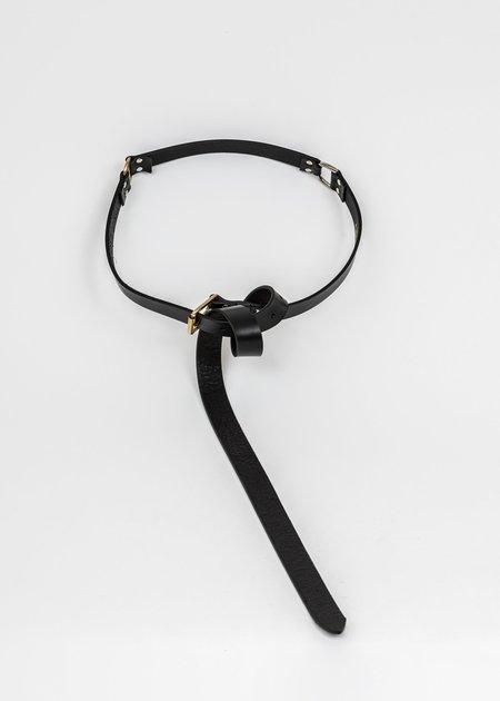 Charles Jeffrey Thin Collage Belt - Black