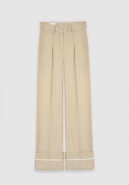 OK KINO Pants - Ecru beige