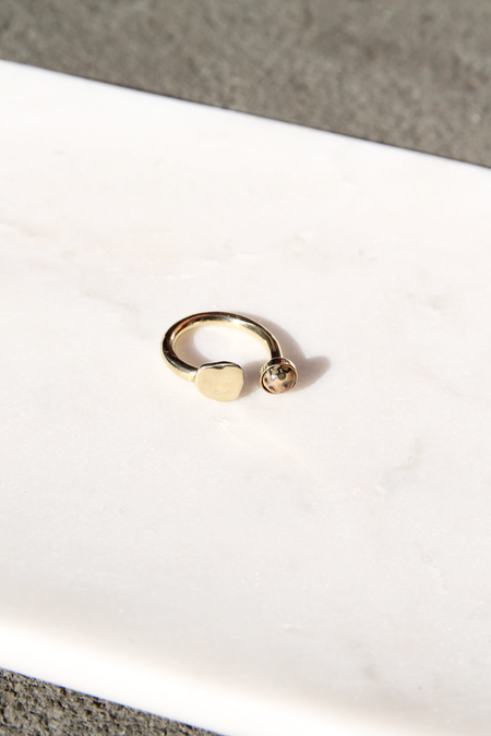 ODETTE NEW YORK | TILT RING WITH LEOPARDSKIN JASPER