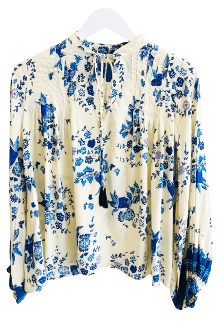 Natalie Martin Lizzy Top - Posey Print Bluebell