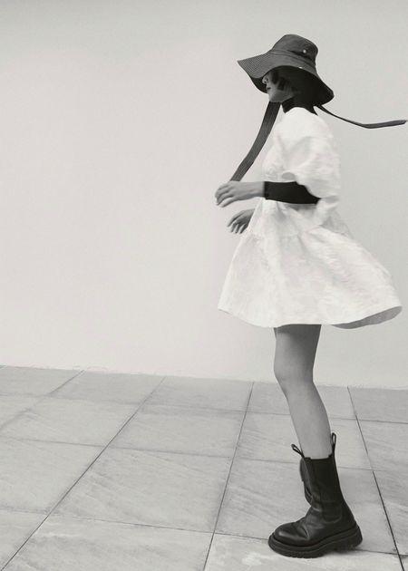 Dona Lim Baby doll dress - white