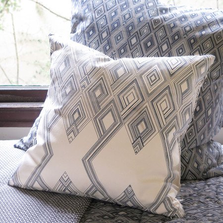 Erica Tanov large diamond throw pillow