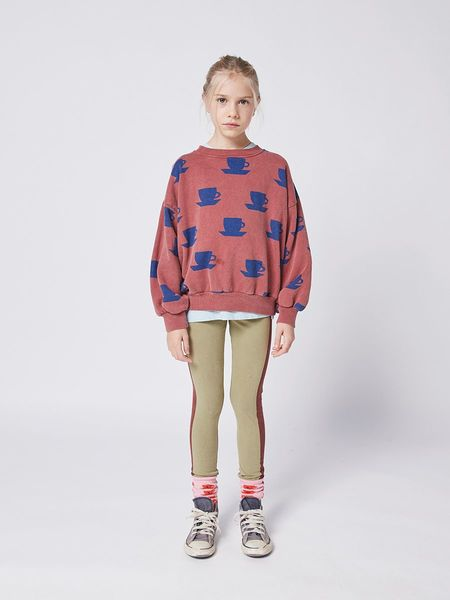 kids Bobo Choses Cup of Tea All Over Sweatshirt - red