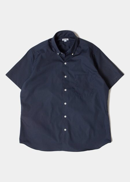 Steven Alan Short Sleeve Single Needle Shirt - Navy Poplin