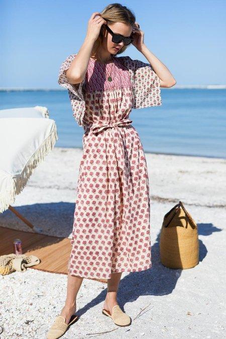 Emerson Fry Basalie Midi Dress - Patchwork Rosey