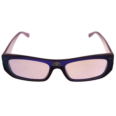 Balenciaga Purple Rectangle Sunglasses
