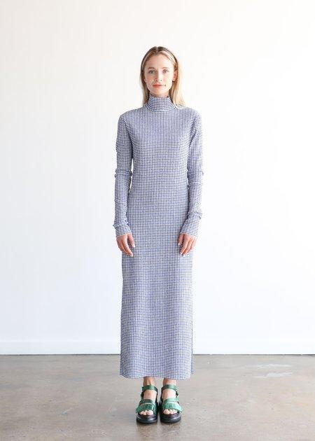Nomia Long Sleeve Knit Dress - Blue/White