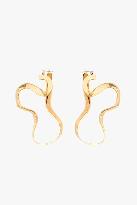 Odette New York Marcel Earring in Brass