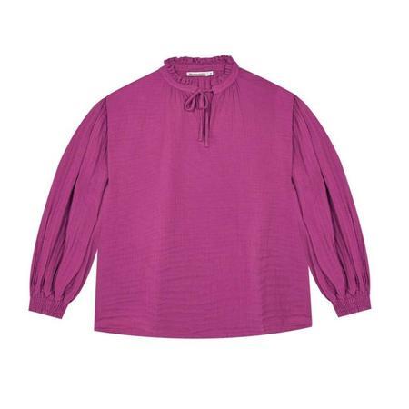 kids the new society olivia blouse - fuchsia