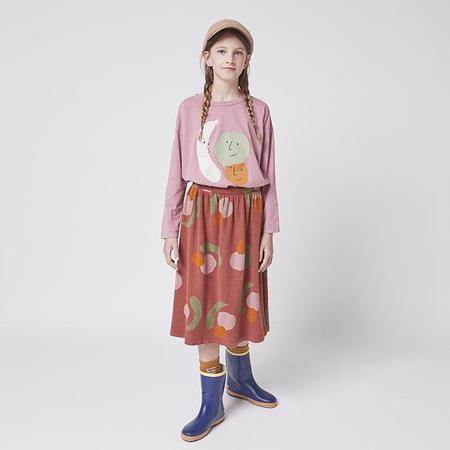 kids Bobo Choses Child Midi All Over Fruit Print Skirt - Red