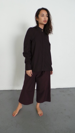 DELFINA BALDA DORI SHIRT - PLUM PURPLE