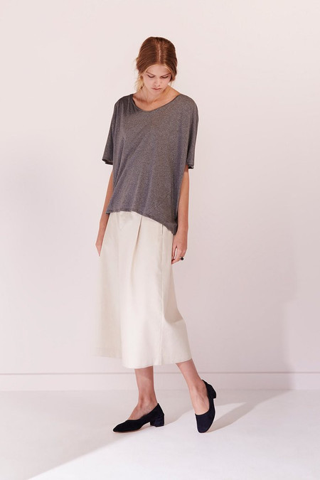 KOWTOW Building Block Oversized Tee in Dark Grey Marle
