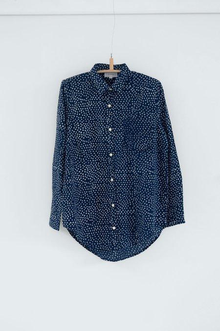unisex Karu scrub print shirt - midnight blue