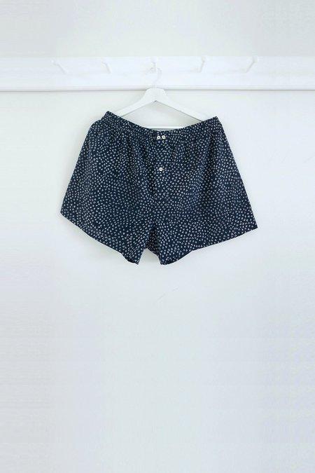 Karu scrub print shorts - midnight blue
