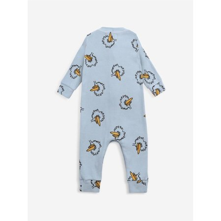 kids bobo choses birdie all over baby overall - blue