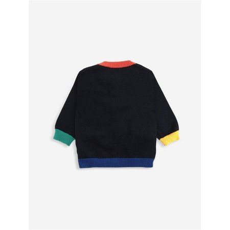 bobo choses multicolor knitted baby cardigan - black/multi