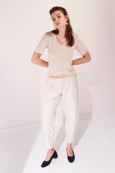 KOWTOW Building Block V Tee in Blush
