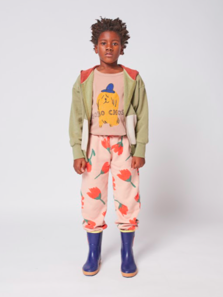 kids Bobo Choses Flowers Jogging Pants - pink