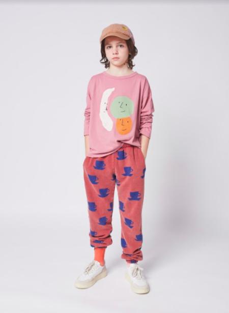 kids Bobo Choses Fruits Long Sleeve Tee - pink