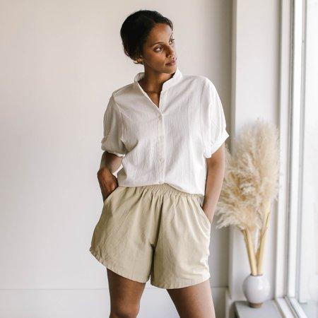 BAHHGOOSE Binda Blouse - White