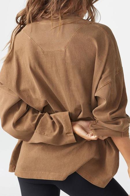 Joah Brown Vintage Cotton Long Sleeve - Toast