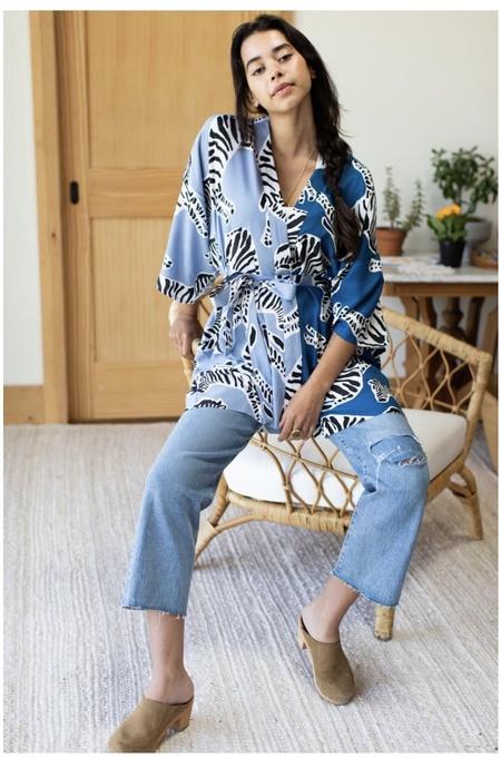 Emerson Fry Fete Kimono - Zebra Patchwork