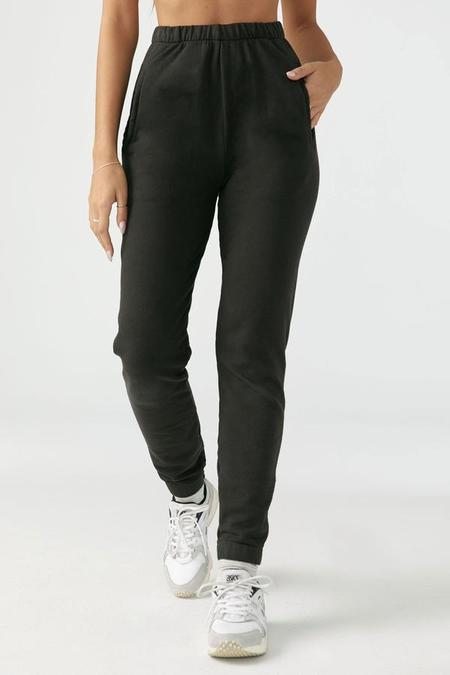 Joah Brown Empire French Terry Jogger - Charcoal Washed Black