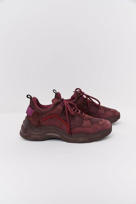 [Pre-Loved] Iro Suede Chunky Sneakers - Burgundy