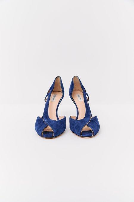 [Pre-Loved] L.K. Bennett Suede Heels - Blue