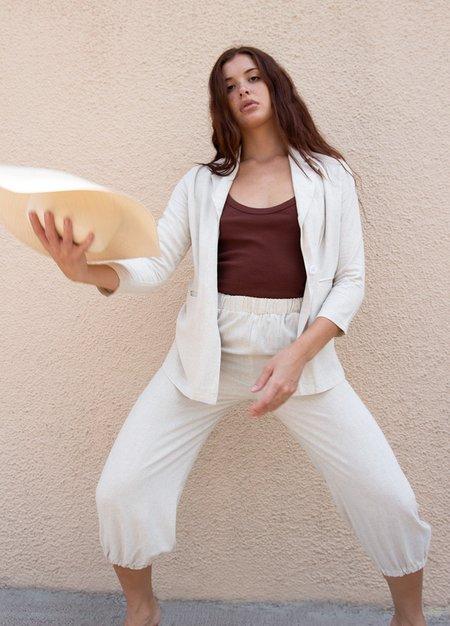 Rachel Palley Linen Tatum Pant - Natural
