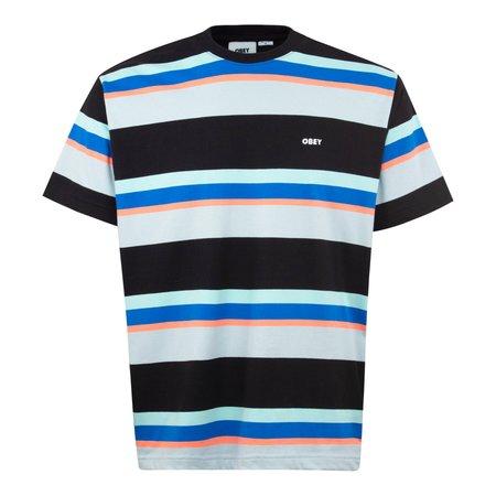 Obey Nils Stripe T-Shirt - Black