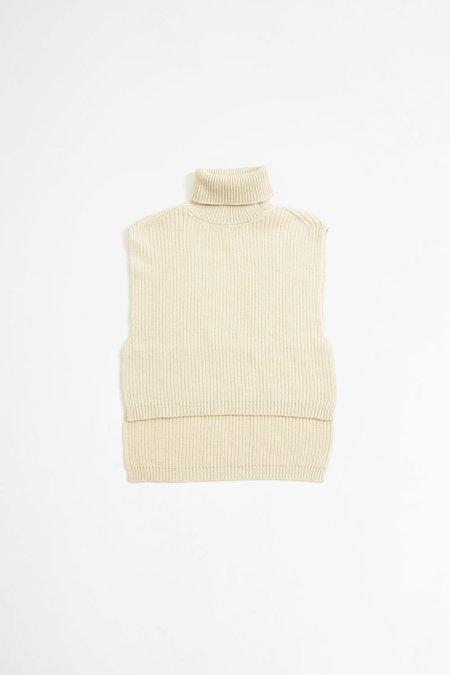 Dries Van Noten Tilburg knitted top - ecru