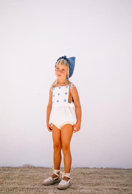 kids Liilu Folk Romper - white