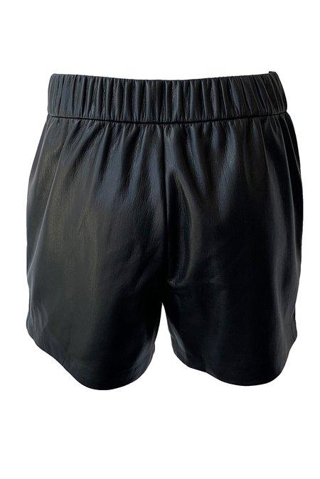 Anine Bing Sofia Vegan Leather Short - Black