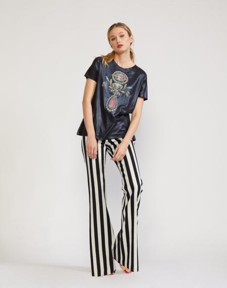 Cynthia Rowley Rock Star Jeans - Black/White