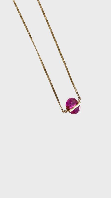 Januka 1661 Ruby Gold Necklace - 14K gold
