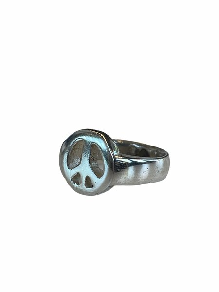 AI STUDIOS PEACE SIGN RING - Sterling Silver
