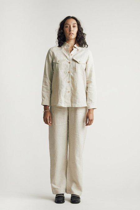 Sunshine Symbol Classic linen pant - Natural