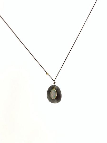 Margaret Solow Necklace - Grey Quartz/Opal/18k