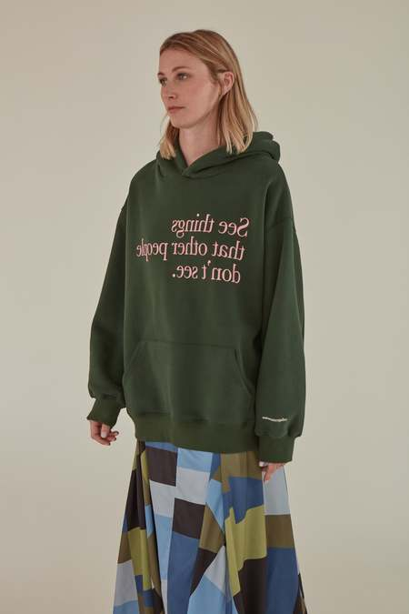 MATTER MATTERS OVERSIZED SEE THINGS HOODIE - GREEN