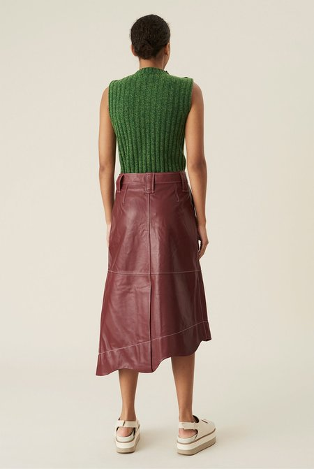 Ganni Recycled Wool V-neck Pullover - Green