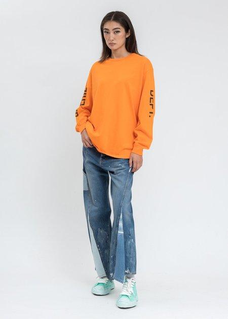 GALLERY DEPT. x LANVIN Paint Marks Washed Denim Jeans - Blue Multi